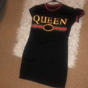 Black queen dress
